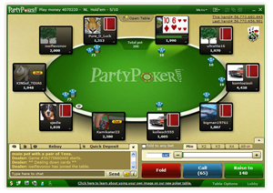 party poker game history